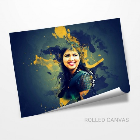 Personalized Color Splash Effect Canvas