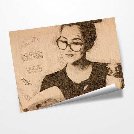 Personalized Da Vinci Sketch Effect