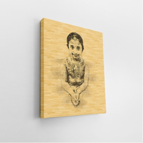 Personalized Popup Sketch Wood Effect