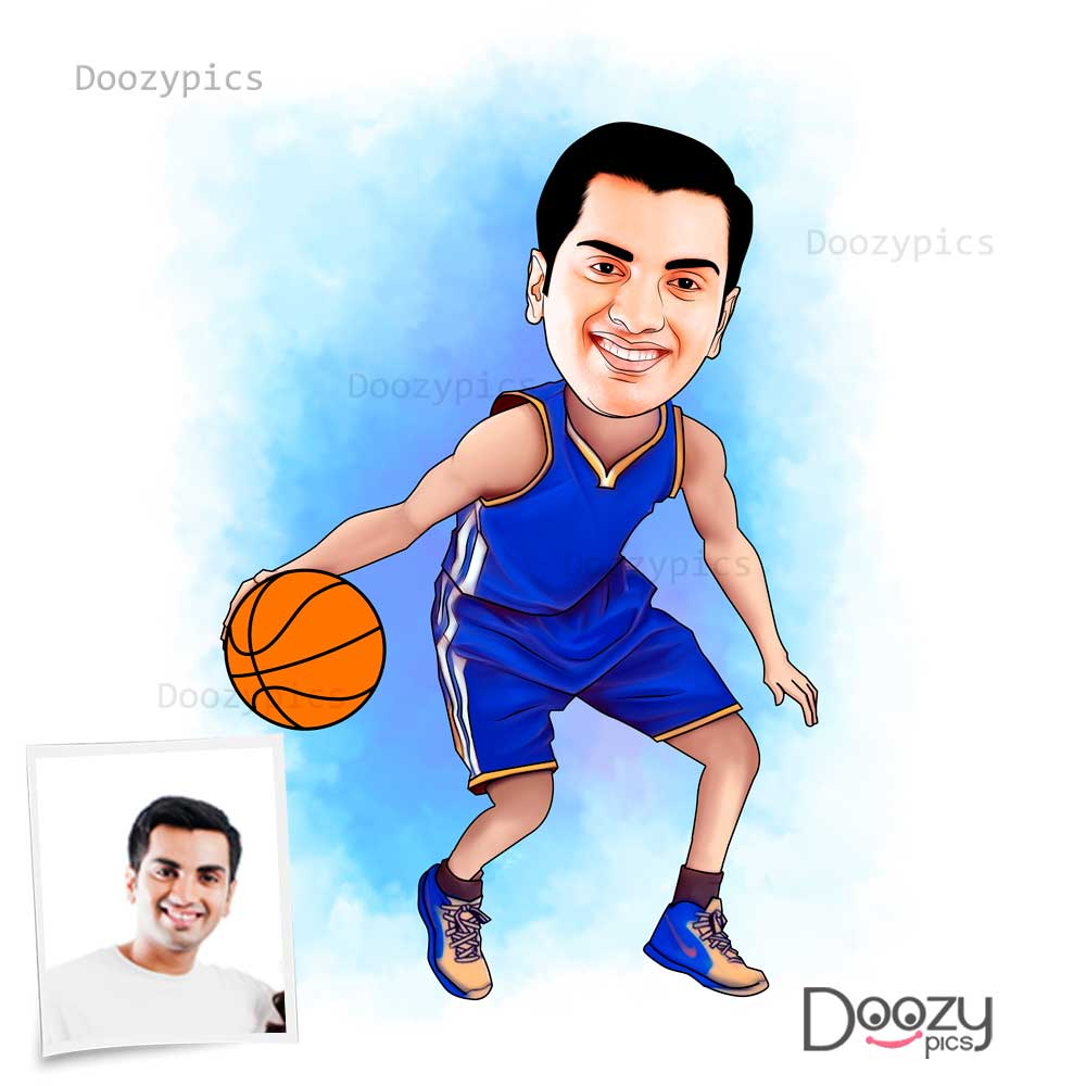 Basketball Player Caricature Art