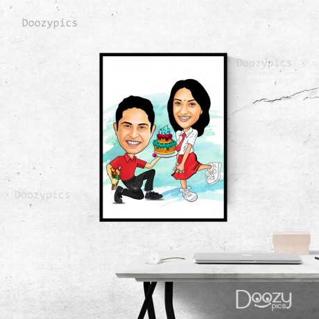 Personalised Birthday Caricature