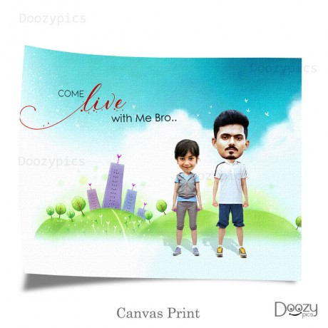 Brother And Sister Caricature Art