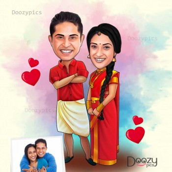 Wedding Caricature Art