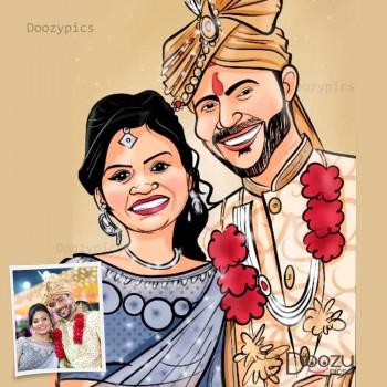 Couple Caricature Art
