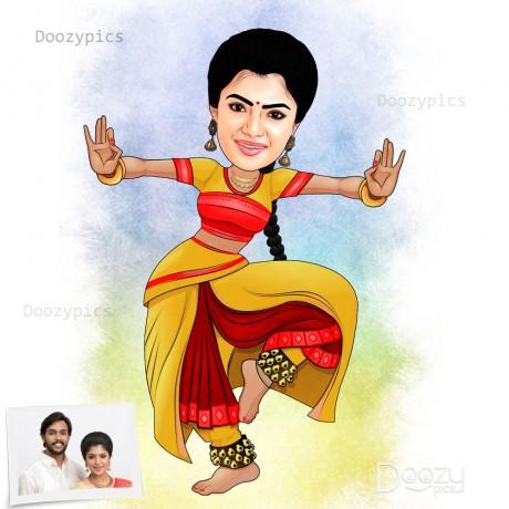 Classical Dancer Caricature Art