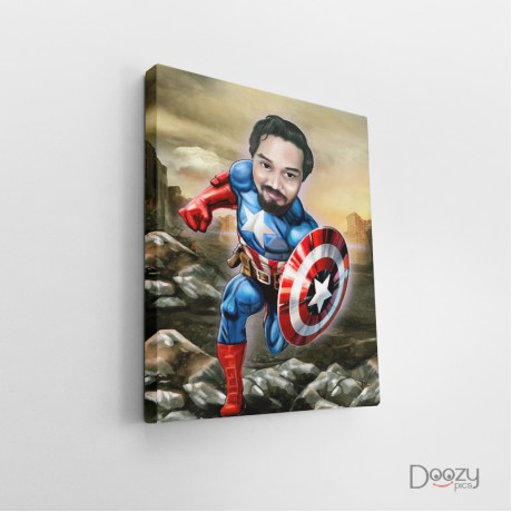 Captain America Caricature Art