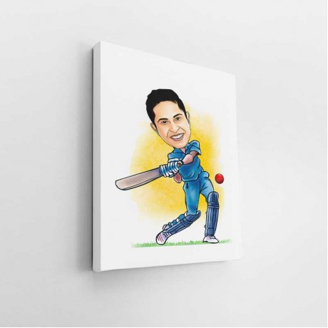 Cricketer Caricature Art