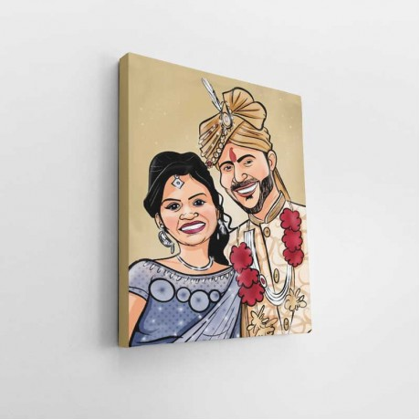 Personalised Couple Caricature Art