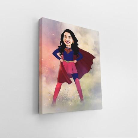 Superwoman Caricature Art