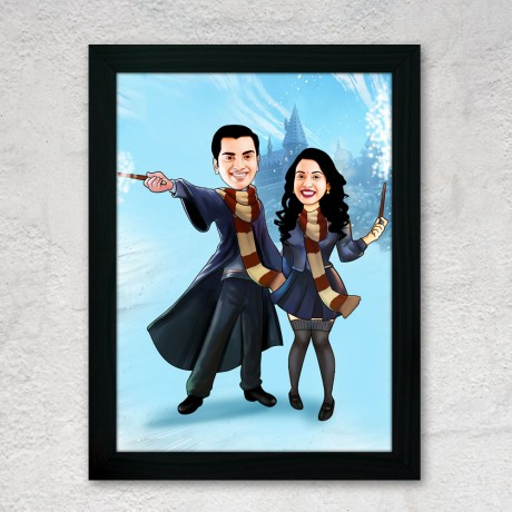 Harry Potter Couple Caricature Art