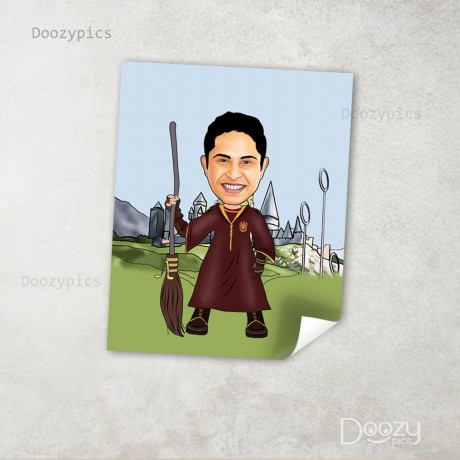 Harry Potter Single Caricature Art