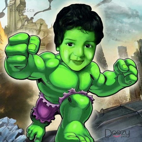 Hulk Caricature Art