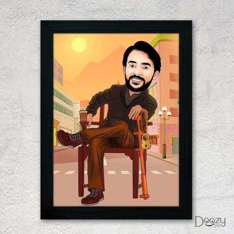 Rajinikanth Petta Movie Caricature Art