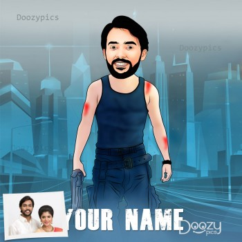 Saaho Caricature Art