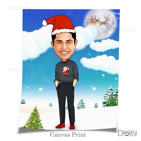 Personalised Santa Caricature Art