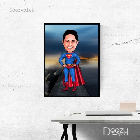 Superman Caricature Art