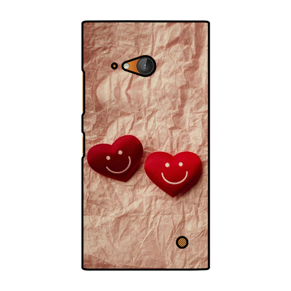 Double Heart Printed Nokia Mobile Case
