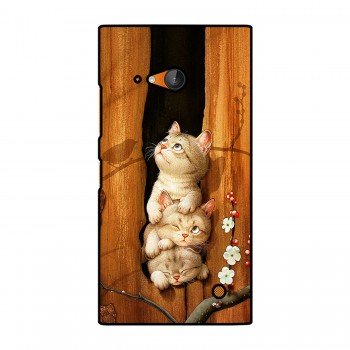 Three Cats Printed Nokia Mobile Case