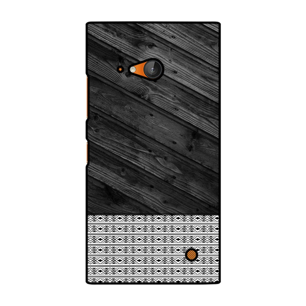 Black Wooden Pattern Printed Nokia Mobile Case