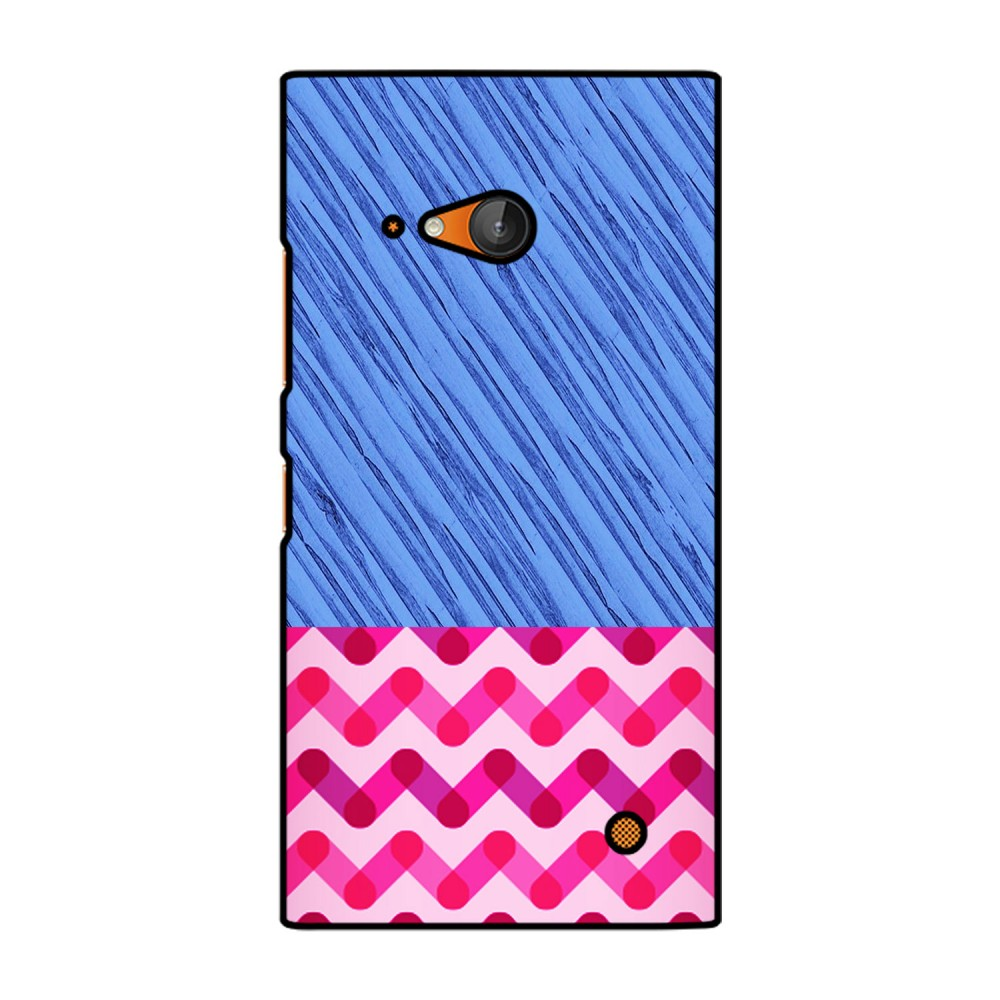 Blue and Pink Pattern Printed Nokia Mobile Case