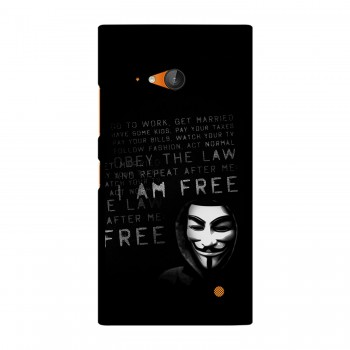 I am Free Text Printed Nokia Mobile Case