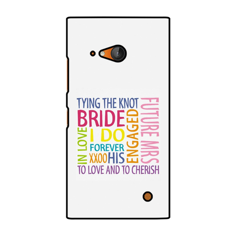 Bride Quote Printed Nokia Mobile Case