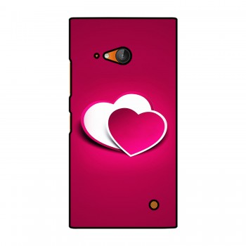 Pink Heart Printed Nokia Mobile Case