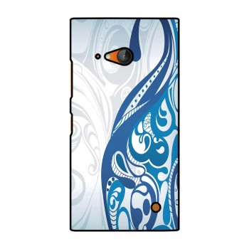 White And Blue Design Printed Nokia Mobile Case