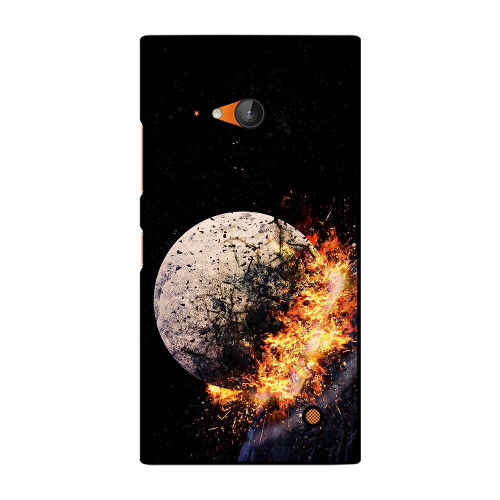 Crystal With Fire Printed Nokia Mobile Case