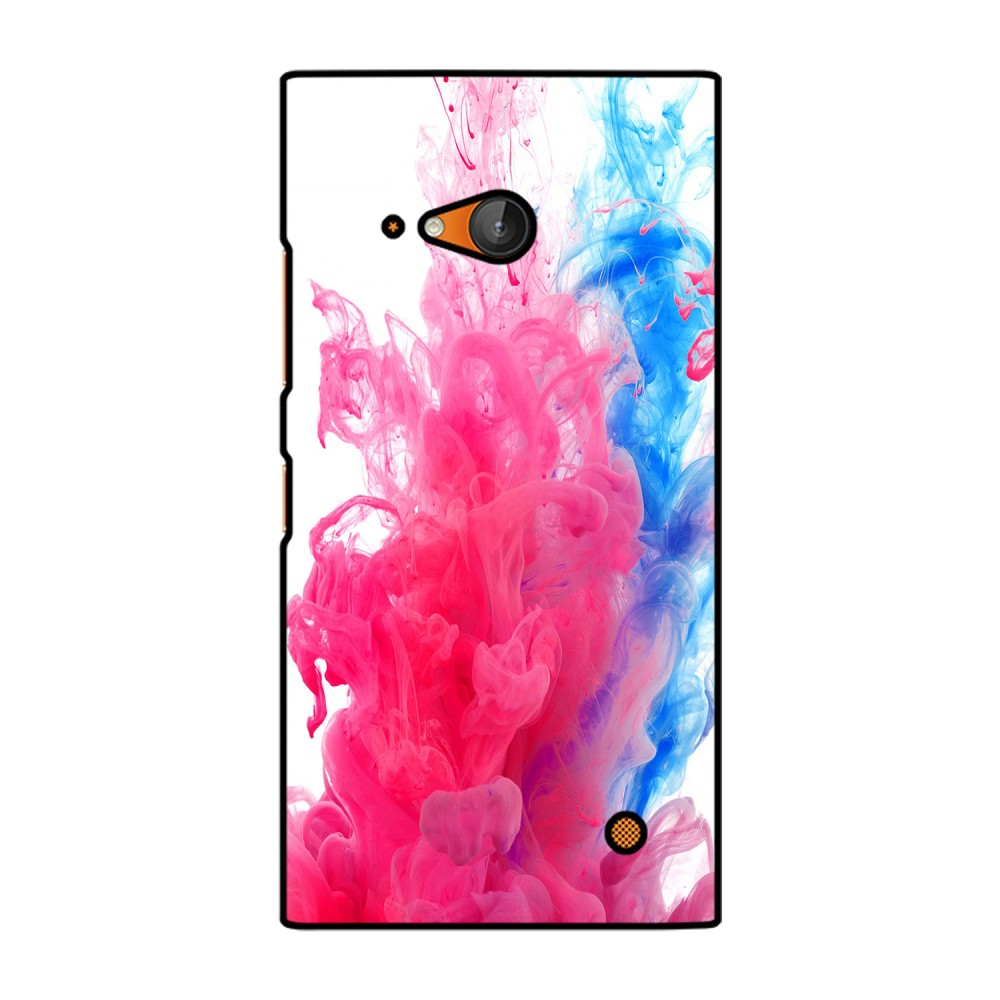 Blue And Pink Colors Flow Printed Nokia Mobile Case
