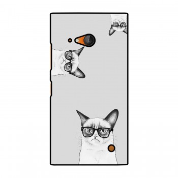 Cat With Spectacles Printed Nokia Mobile Case