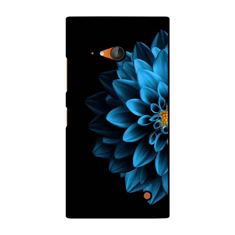 Blue Colored Flower Printed Nokia Mobile Case