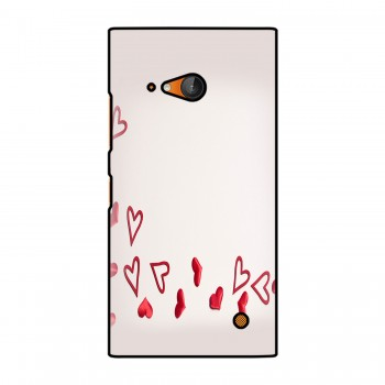 Red Colored Hearts Printed Nokia Mobile Case