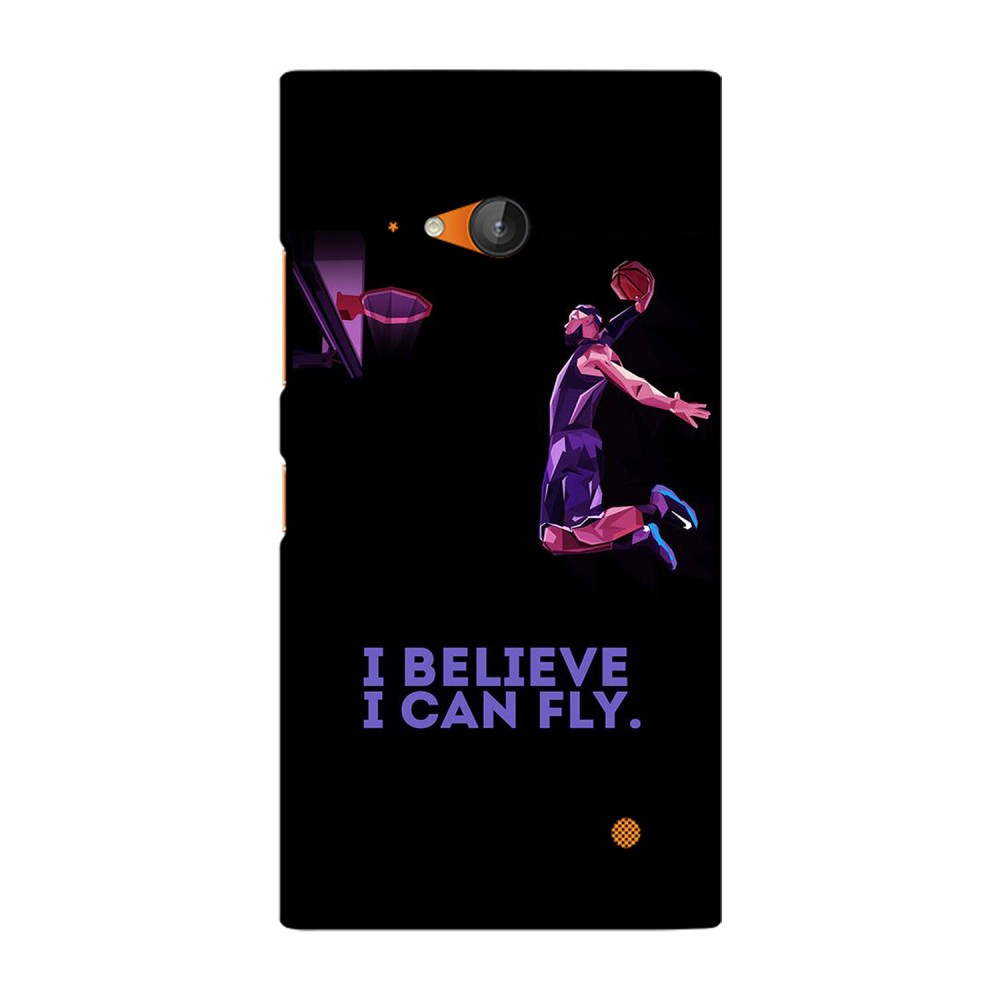 Believe Text Printed Nokia Mobile Case