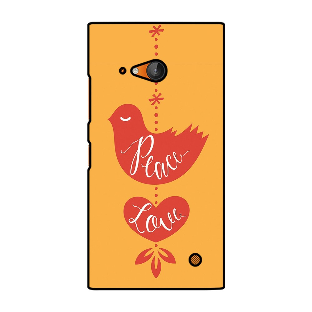 Peace Love Printed Nokia Mobile Case