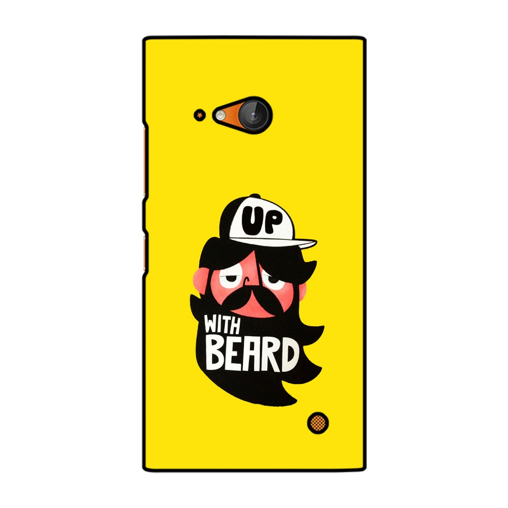 Up With Beard Cartoon Printed Nokia Mobile Case