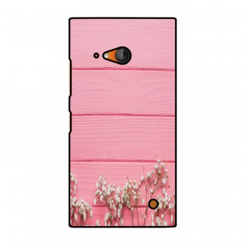 Pink Board White Flowers Printed Nokia Mobile Case