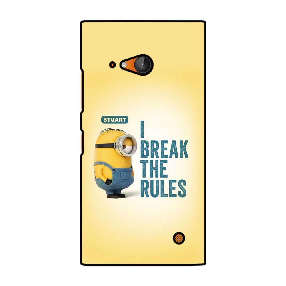 I break The Rules Text Printed Nokia Mobile Case
