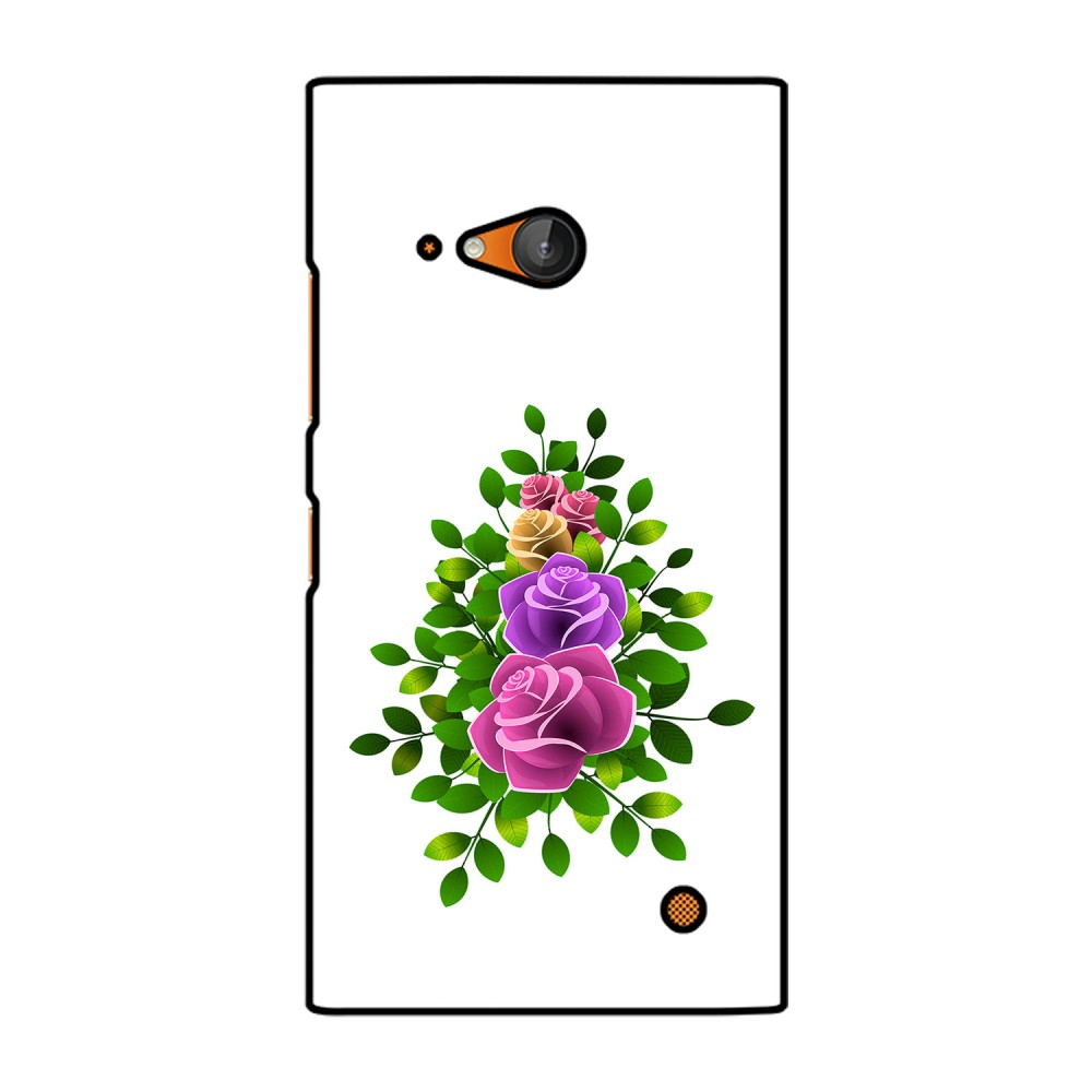 Flower With Leaves Printed Nokia Mobile Case