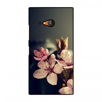 White And Pink Flowers Printed Nokia Mobile Case