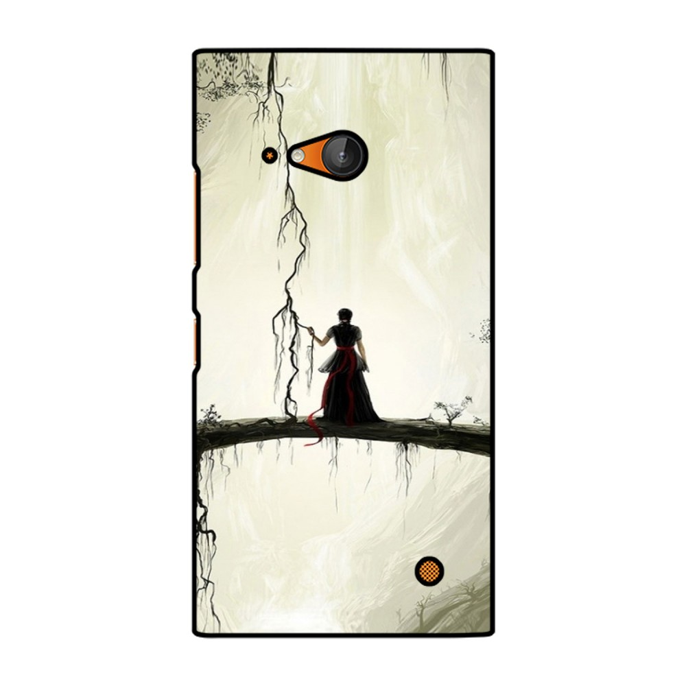 Lady Alone Printed Nokia Mobile Case