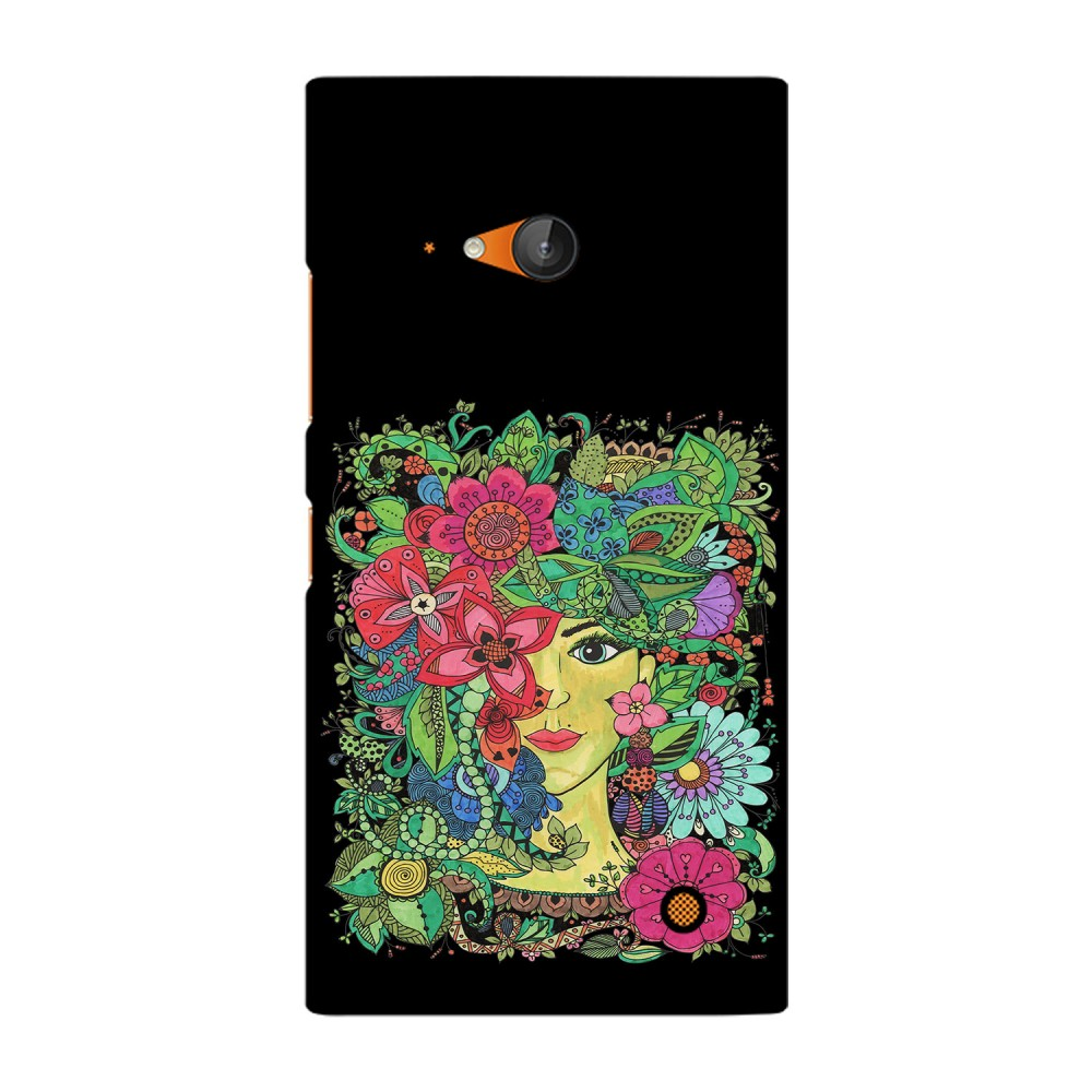 Colorful Flowers Design Printed Nokia Mobile Case