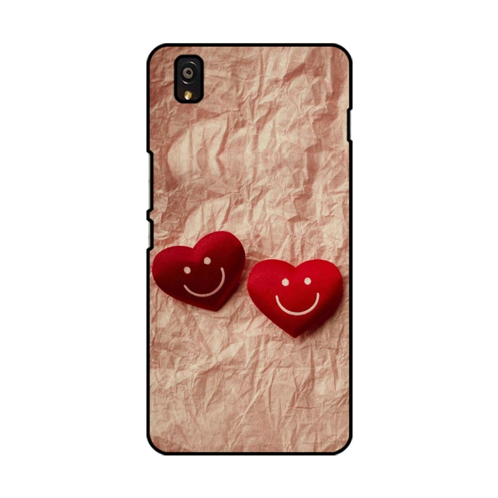 Double Heart Printed OnePlus Mobile Case