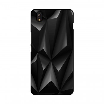 Black Pattern Printed OnePlus Mobile Case