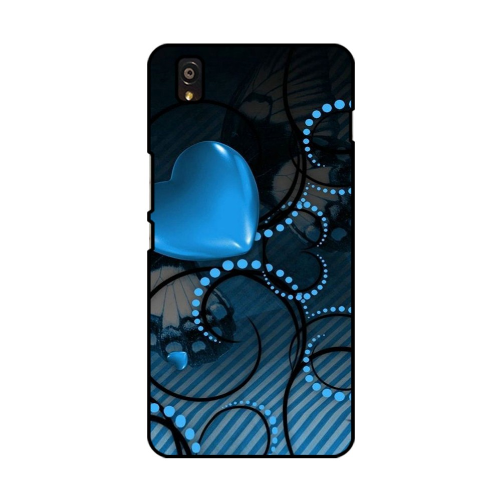 Blue Heart Printed OnePlus Mobile Case