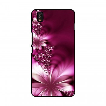 Pink Flower Printed OnePlus Mobile Case