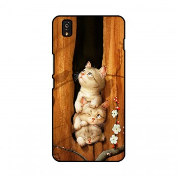 Three Cats Printed OnePlus Mobile Case