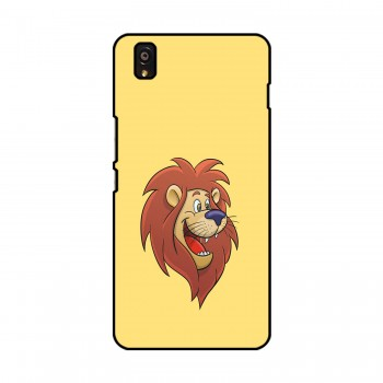 Cartoon Lion Printed OnePlus Mobile Case