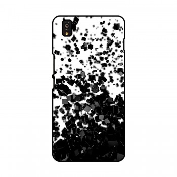 Black Cubes Printed OnePlus Mobile Case