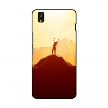 Woman On Hill Printed OnePlus Mobile Case